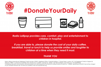 Donate Your Daily for Radio Lollipop